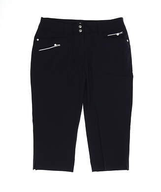 New Womens Daily Sports Miracle Capris 10 Black MSRP $130 001/217