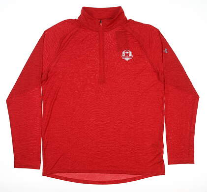 New Mens Under Armour 2020 Ryder Cup Tech 1/4 Zip Small S Red MSRP $70 UM069355TW