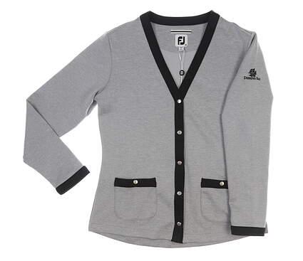 New W/ Logo Womens Golf Footjoy Cardigan X-Large XL Gray MSRP $110 27623