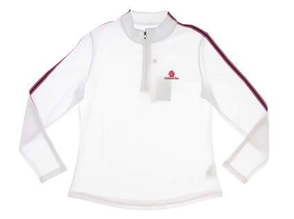 New W/ Logo Womens Footjoy Golf 1/4 Zip Sweater Large L White MSRP $95 27616