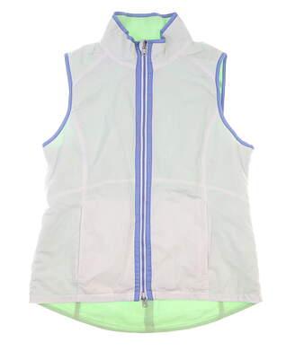New Womens Zero Restriction Reversible Golf Vest Large L White MSRP $135