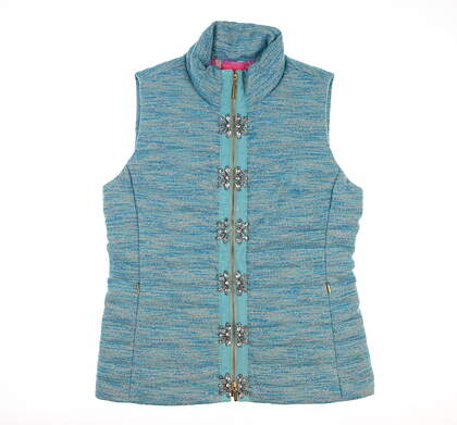 New Womens Lily Pullitzer Noella Vest Small S Blue MSRP $298 003815 44914P