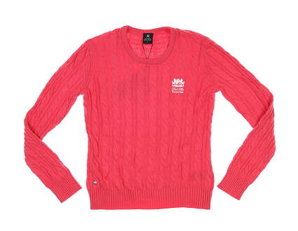 New W/ Logo Womens Daily Sports Nadja Pullover Sweater Small S Pink MSRP $125 943/501