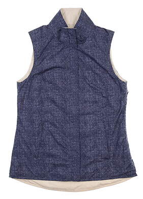 New Womens Peter Millar Reversible Vest X-Small XS Blue LS18EZ01B