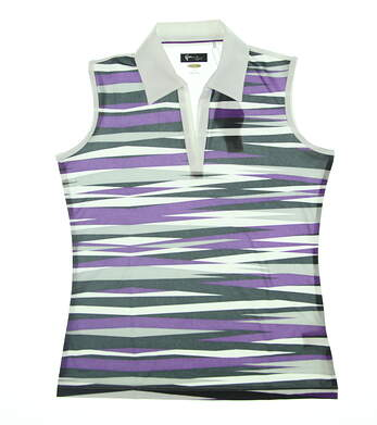 New Womens Greg Norman Sleeveless Golf Polo Small S Multi G2F3K515