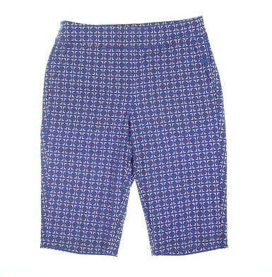 New Womens EP Pro Open Squares Print Shorts Small S Blue 8111NAA
