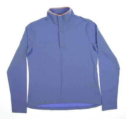 New Womens Ralph Lauren 1/2 Zip Pullover Medium M Blue 281687960005