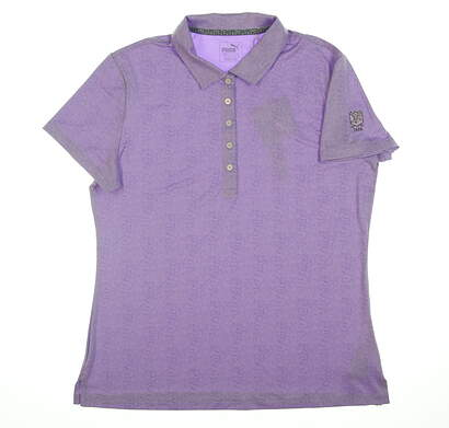 New Womens Puma Polo Large L Purple 574655 02