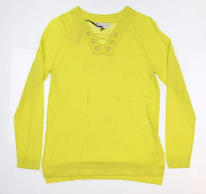 New Womens EP Pro V-Neck Pullover Sweater Medium M Wasabi 4130NAC