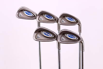 Ping i5 Iron Set 6-PW Ping AWT Steel Regular Right Handed Black Dot 37.25in