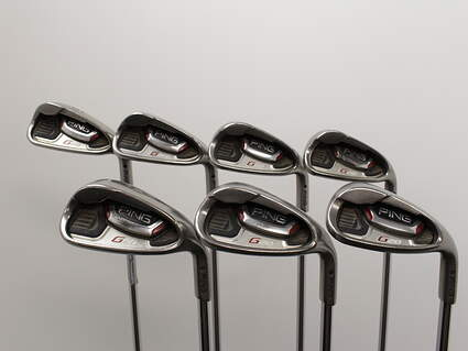 Ping G20 Iron Set 6-PW SW, LW Ping CFS Steel Regular Right Handed Black Dot 37.5in