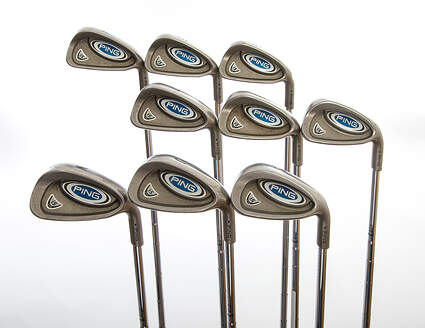 Ping i5 Iron Set 4-PW GW SW Stock Steel Shaft Steel Stiff Right Handed Blue Dot 37.75in