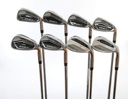 Cobra King F8 Iron Set 5-PW GW SW True Temper XP 90 Steel Stiff Right Handed 38.5in