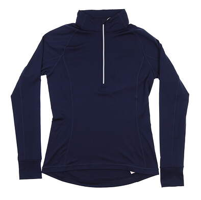 New Womens Puma Proven 1/4 Zip Pullover Small S Peacoat 577943 03 MSRP $65