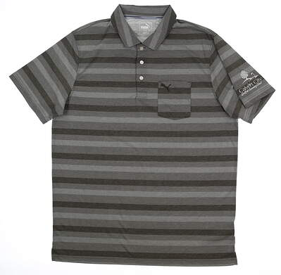New W/ Logo Mens Local Pro Puma Polo Large L Forest Night 576133 03