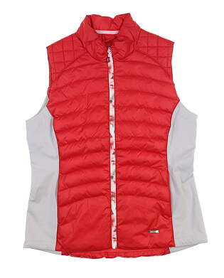 New Womens SUNICE Finely Thermal 3M Vest Large L Cherry/ Oyster S64505 MSRP $140