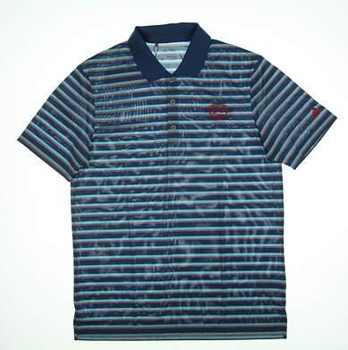 New W/ Logo Mens Adidas Golf Polo Medium M Blue BC1845 14