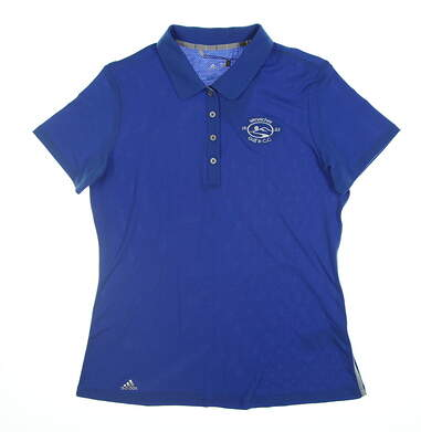 New W/ Logo Womens Adidas Polo Small S Blue BC4052 11