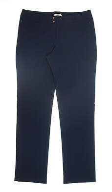 New Womens Adidas Golf Pants Size 10 Navy Blue AE9389 13