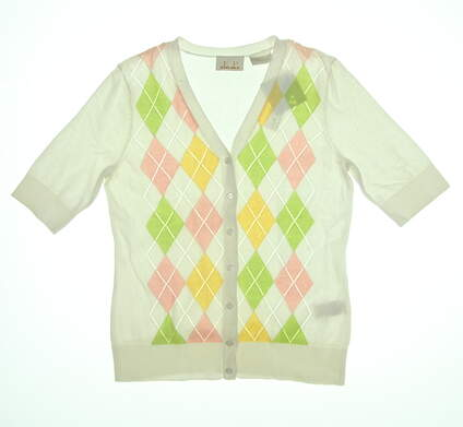 New Womens EP Pro Carefree Golf Cardigan Small S Multi 4841DD