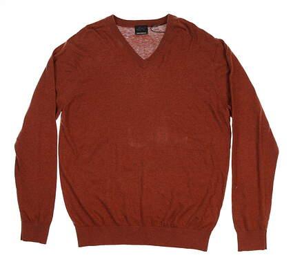 New Mens Greg Norman Sweater Medium M Orange