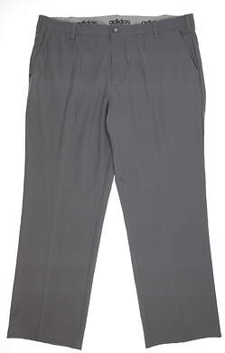 New Mens Adidas Golf Pants 42x32 Gray BC3850