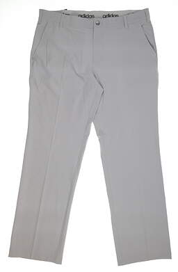 New Mens Adidas Golf Pants 38x32 Gray BC2479