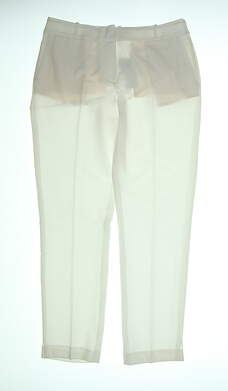 New Womens Fairway & Greene Ankle Golf Pants 8 Pearl H32284