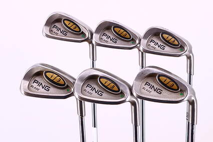 Ping i3 Blade Iron Set 7-PW GW SW Ping JZ Steel Stiff Right Handed Green Dot 37.5in