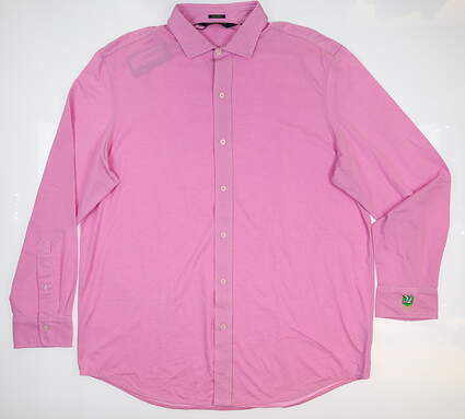 New W/ Logo Mens Ralph Lauren Button Up X-Large XL Pink