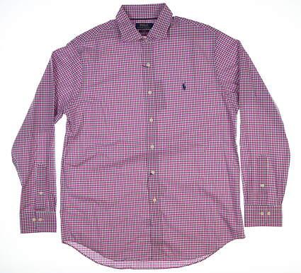 New Mens Ralph Lauren Button Up Large L Pink