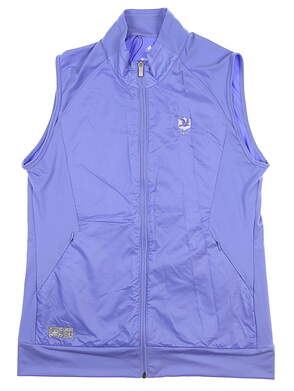 New W/ Logo Womens Adidas Golf Wind Vest Large L Blue CD4030