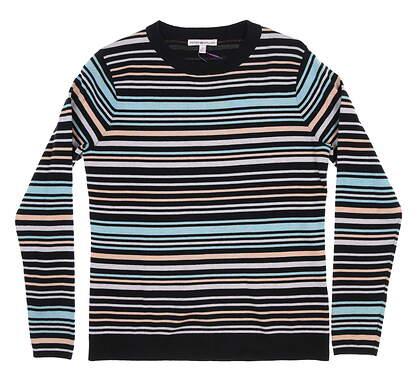 New Womens Peter Millar Golf Sweater Small S Multi LS18ES02J