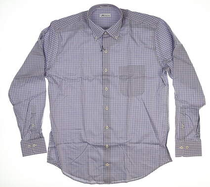 New Mens Peter Millar Button Down Large L Multi MF18W05NBL