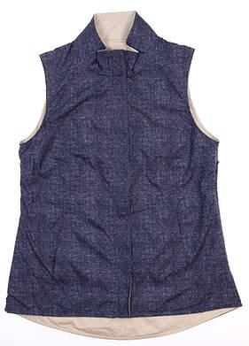 New W/ Logo Womens Peter Millar Reversible Vest Small S Multi LS18EZ01B