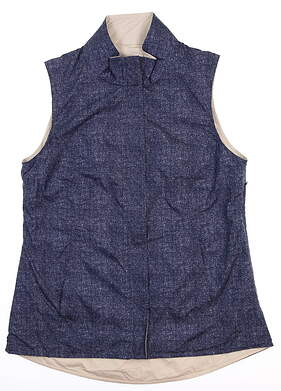 New W/ Logo Womens Peter Millar Reversible Vest Medium M Multi LS18EZ01B