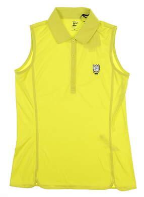 New W/ Logo Womens EP Pro Sleeveless Golf Polo X-Small XS Wasabi NS5156