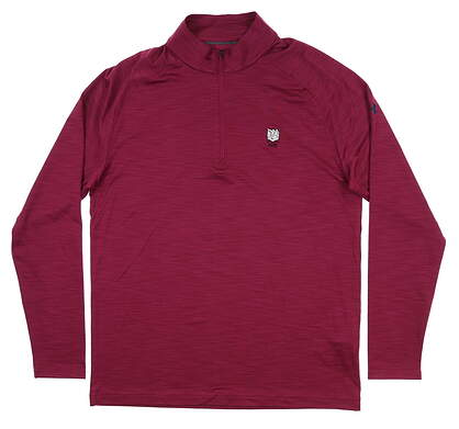 New W/ Logo Mens Under Armour 1/4 Zip Pullover Large L Maroon UM1279