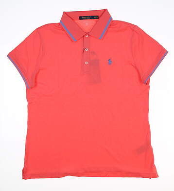 New Womens Ralph Lauren Tailored Fit Golf Polo Large L Pink