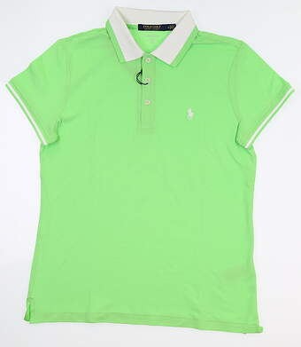 New Womens Ralph Lauren Tailored Fit Golf Polo Medium M Green