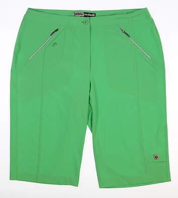 New Womens Jamie Sadock Golf Knee Capris 14 Emerald 51345
