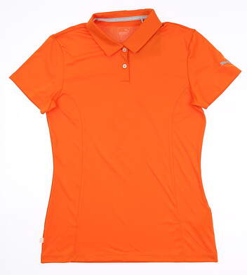 New Womens Puma Golf Polo Small S Orange 570527