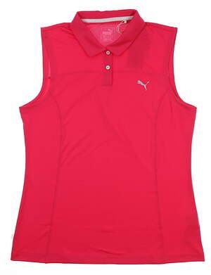 New Womens Puma Sleeveless Golf Polo X-Large XL Bright Rose 570524