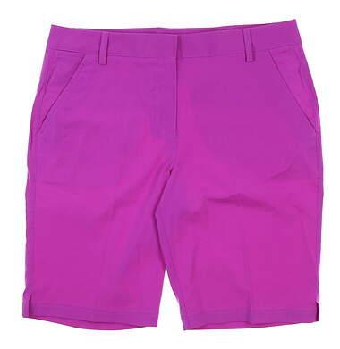 New Womens Puma Bermuda Golf Shorts 12 Purple 570552