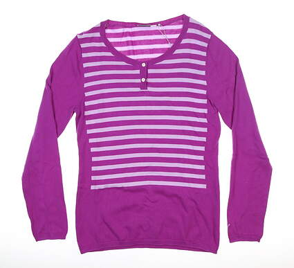 New Womens Puma Scoopneck Sweater Medium M Purple 570548