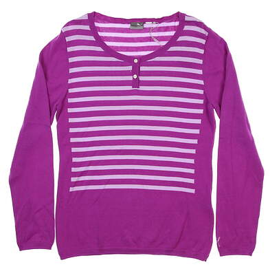 New Womens Puma Scoopneck Sweater Medium M Purple