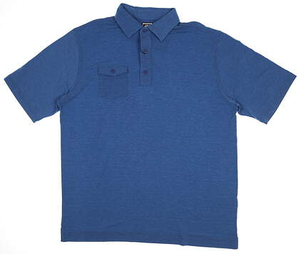 New Mens Footjoy Chest Pocket Polo X-Large XL Blue 22844