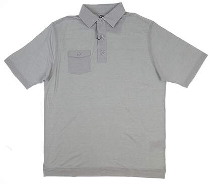 New Mens Footjoy Chest Pocket Polo Large L Gray 22846