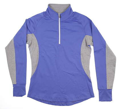 New Womens Footjoy Sport Layer 1/2 Zip Pullover Small S Purple 27132