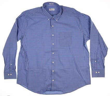 New Mens Peter Millar Crown Comfort Button Up XX-Large XXL Heron Blue MS18W35NBL